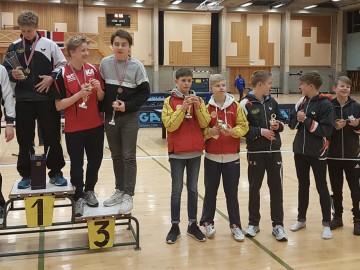 Borgar, Alexander, Erik og Mathias med NM-gull