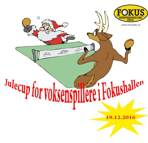 Julecup (førjulscup) for alle voksne spillere som trener i Fokushallen!